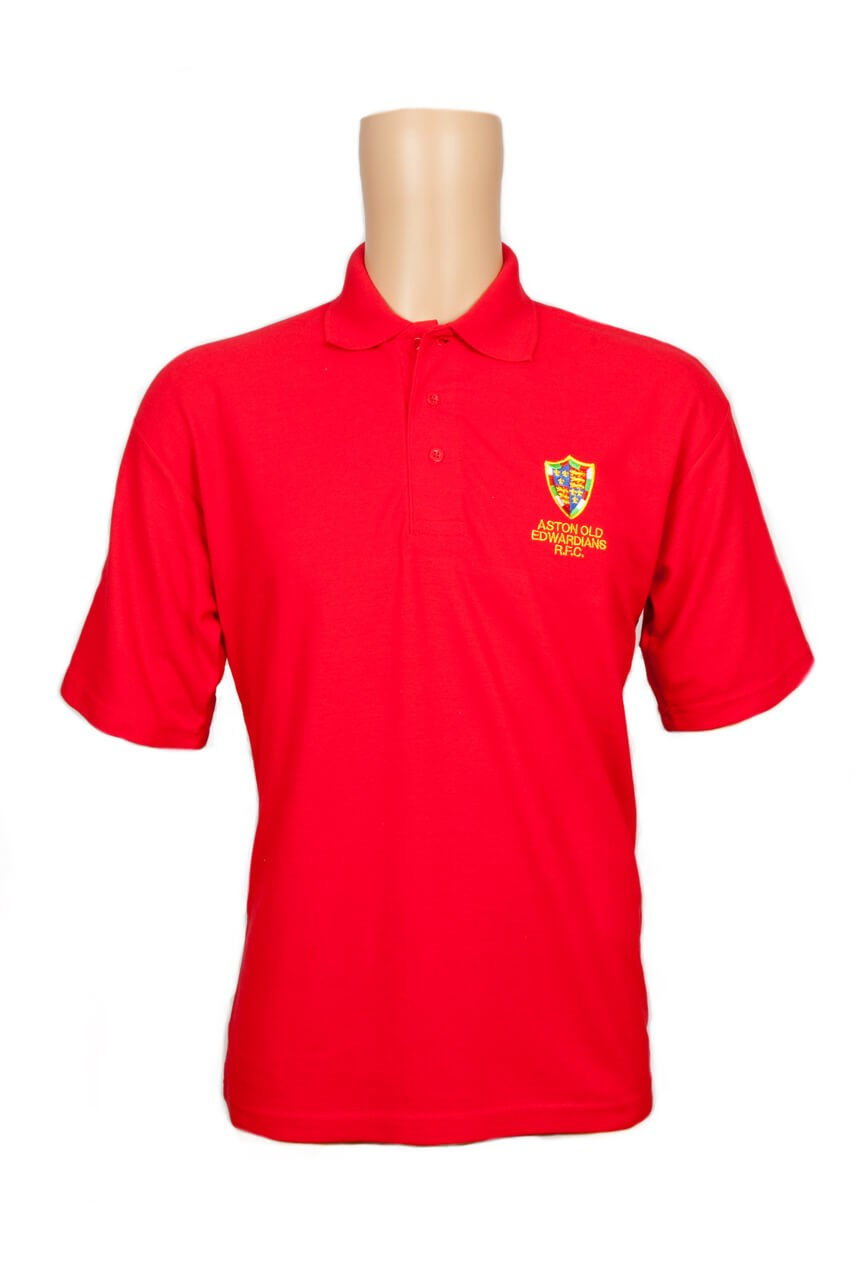Aston Old Edwardians red t-shirt