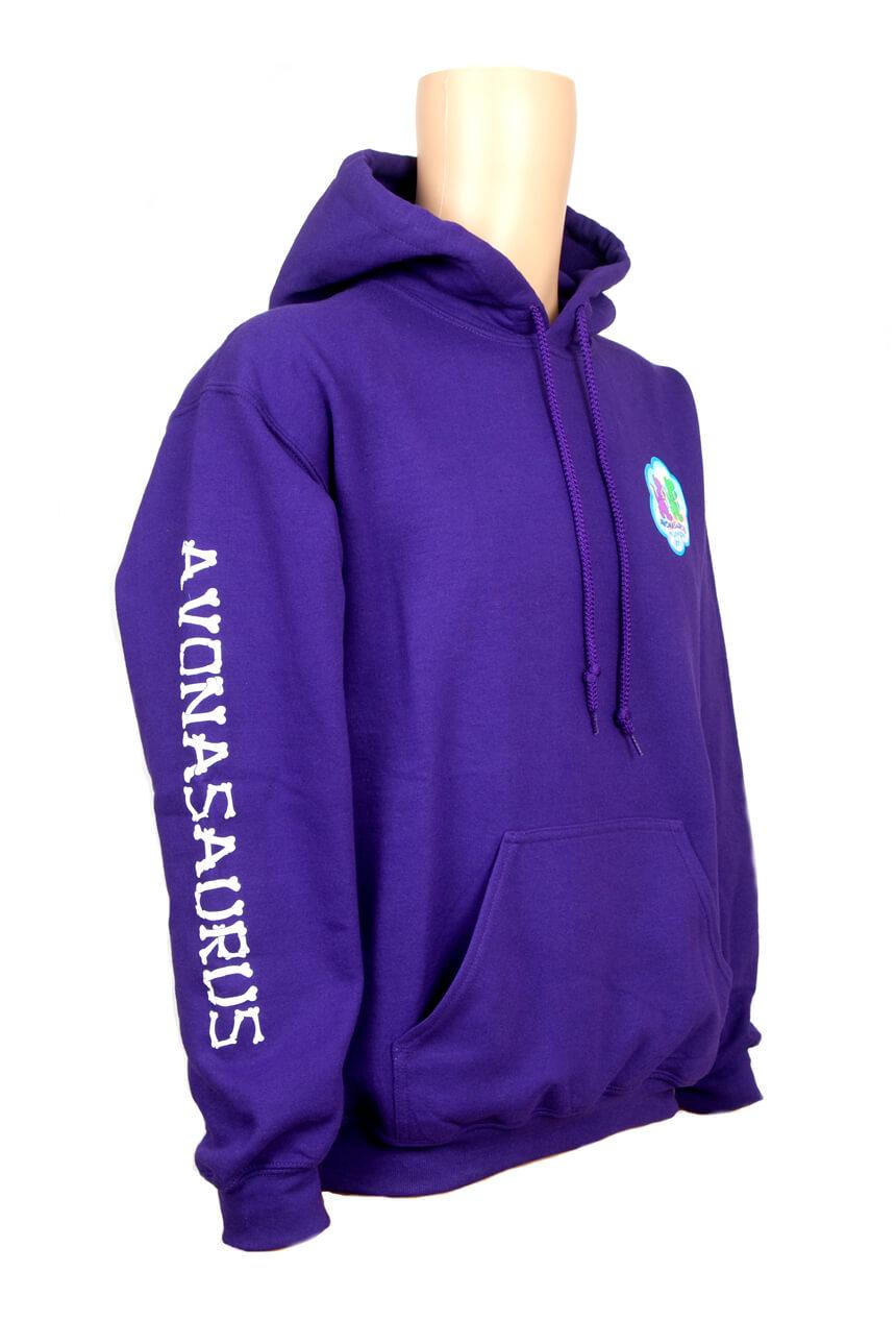 Avonasaurus purple hoodie