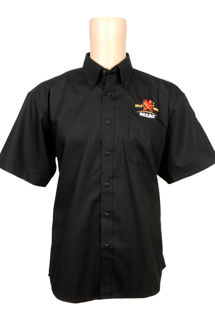 Embroidered black Brains shirt