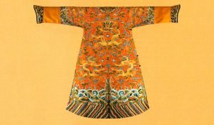 A Chinese embroidered garment