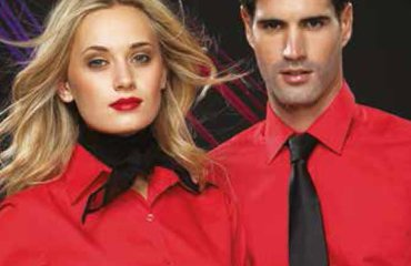 Corporate shirts in red