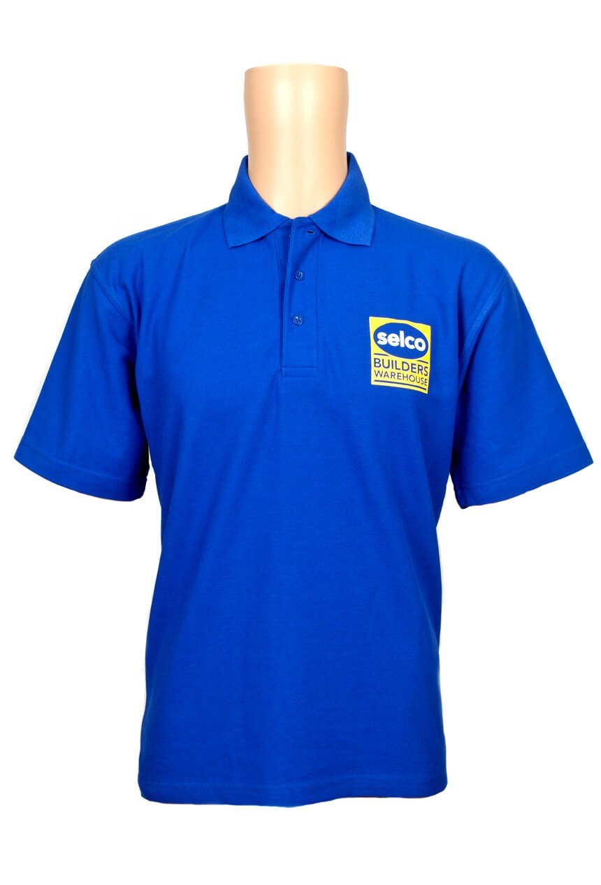 Selco Builders Warehouse blue and embroidered t-shirt