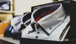 A shirt buttoned down
