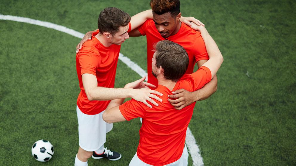 players wearing personalised football kits