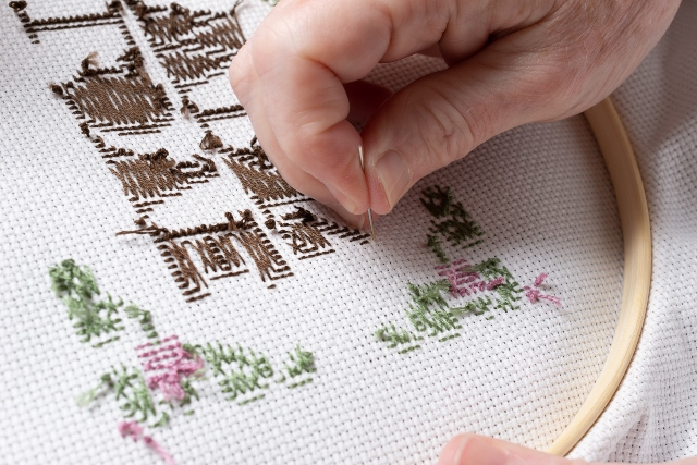 Traditional hand embrodery