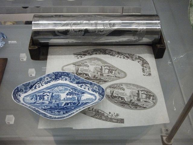Transfer printing process on ceramic plate