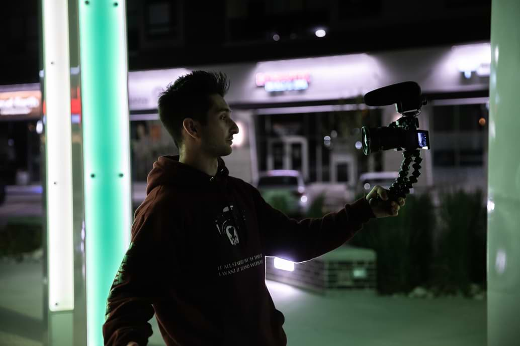 Youtuber recording